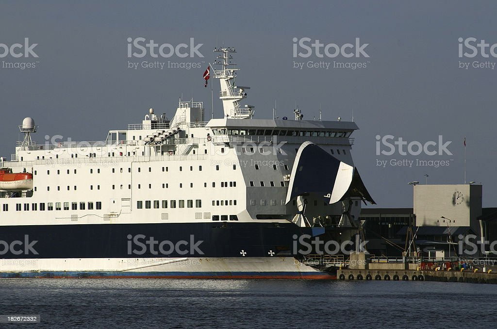 car ferry in dock loading up with vehicles royalty-free stock photo
