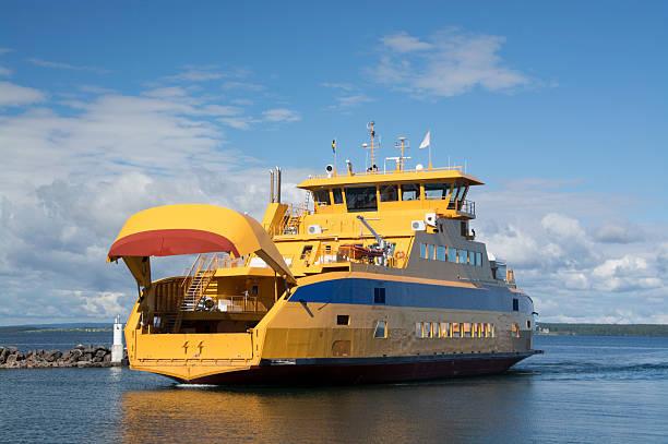car ferry in graenna, sweden - ferry lake sweden bildbanksfoton och bilder