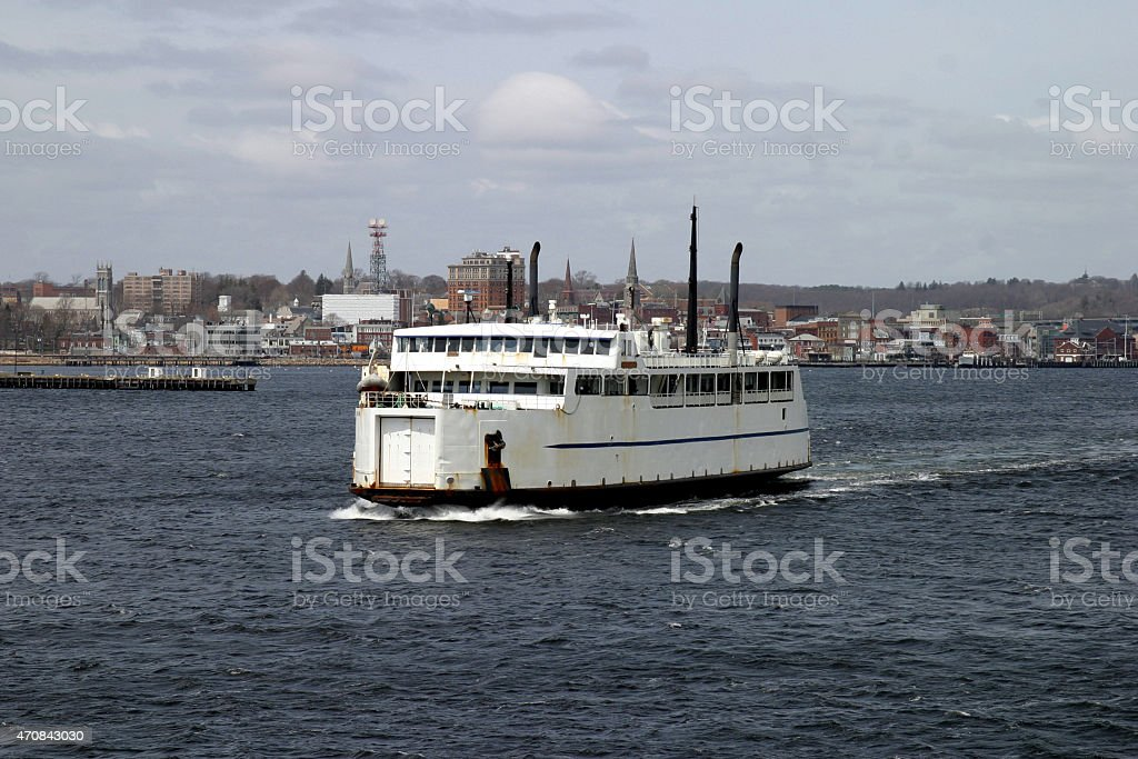 Car Ferry in New London stock photo