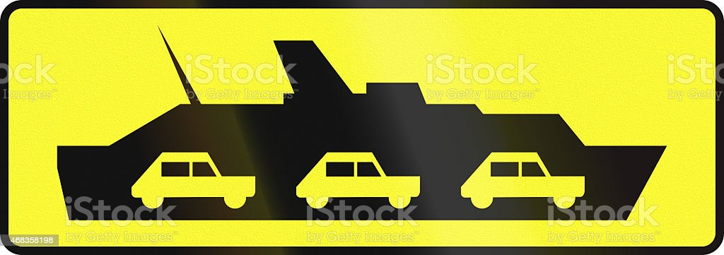 Car Ferry In Poland royalty-free stock photo