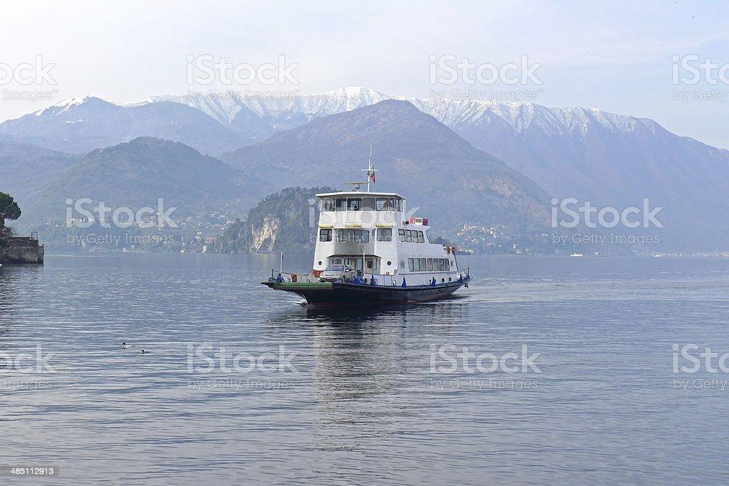 Car Ferry on Lake Como stock photo