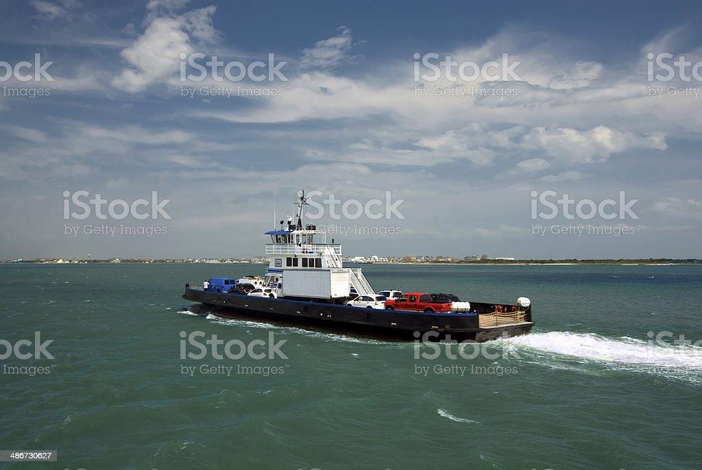 Car ferry to Ocracoke Island, Outer Banks, North Carolina stock photo