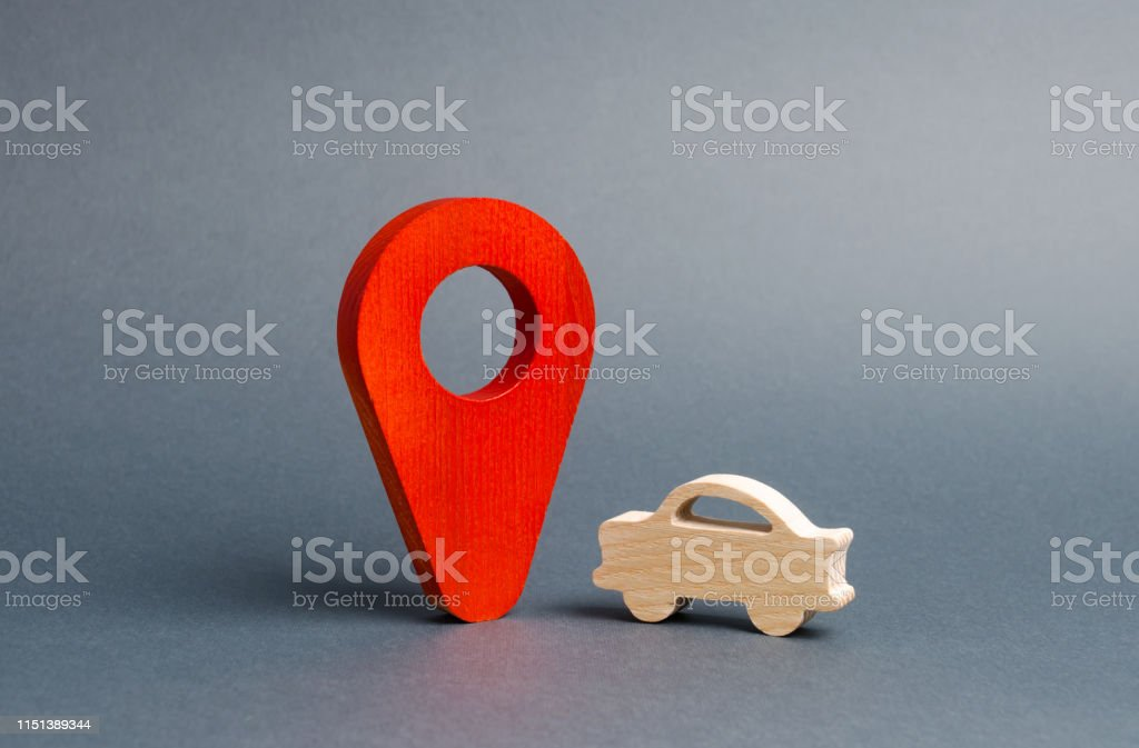 Car figure and a red location marker. Search cars, buy or sell....