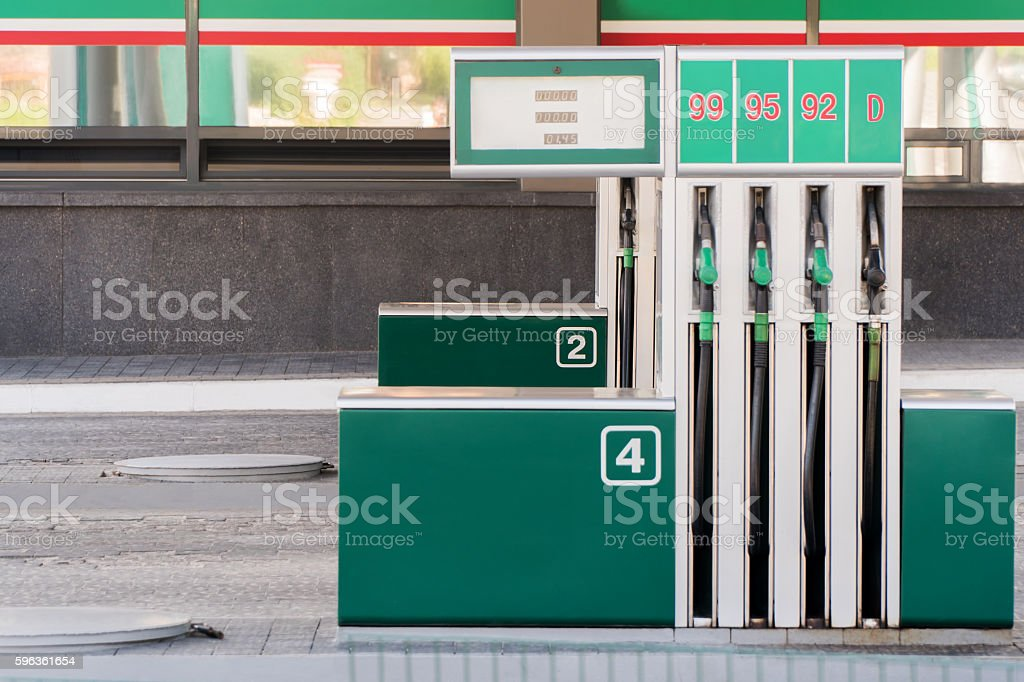 Car filling column royalty-free stock photo