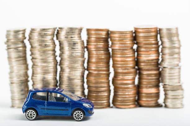 Auto-Finanzen-Geld-stack – Foto