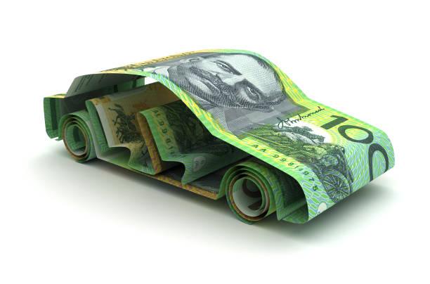 Car Finance With Australian Dollar stock photo