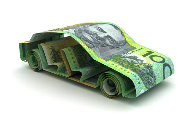 Car Finance With Australian Dollar stock photo