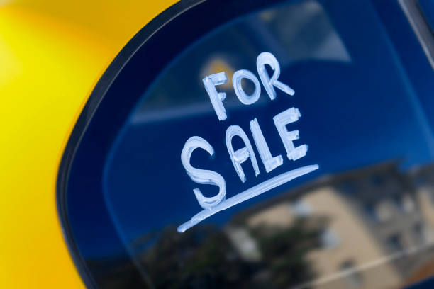 car for sale - used car selling stock pictures, royalty-free photos & images