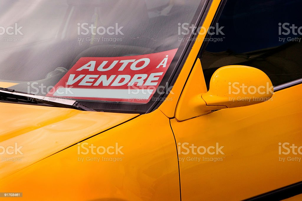 car for sale royalty-free stock photo
