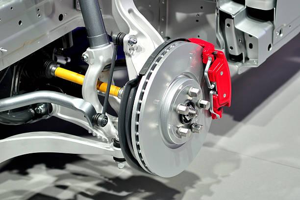 car front suspension. - 剎車制 個照片及圖片檔