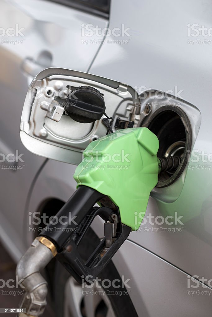 Car fuelling. stock photo