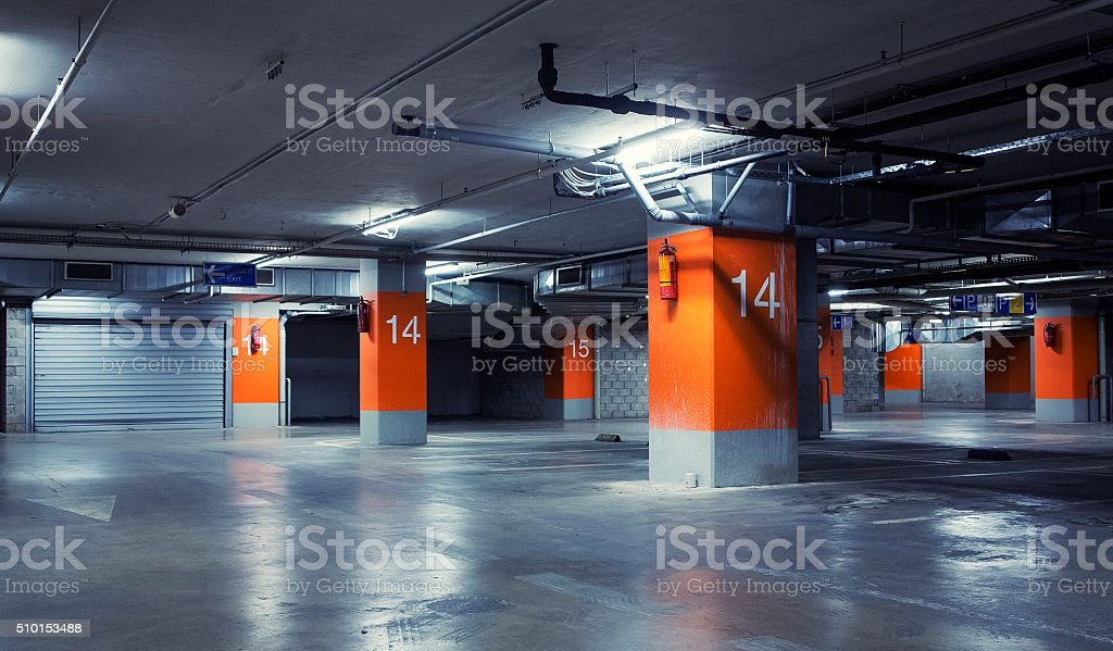 Car garage stock photo
