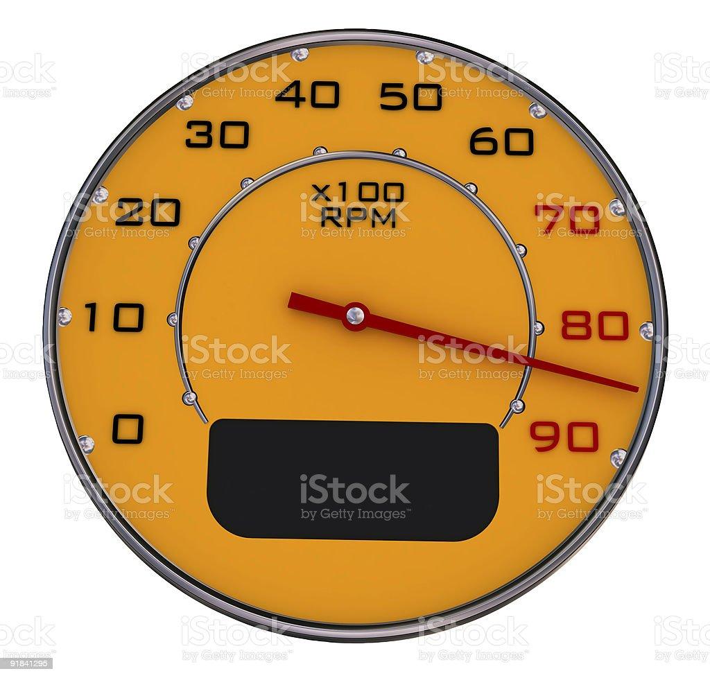 Car gauges royalty-free stock photo