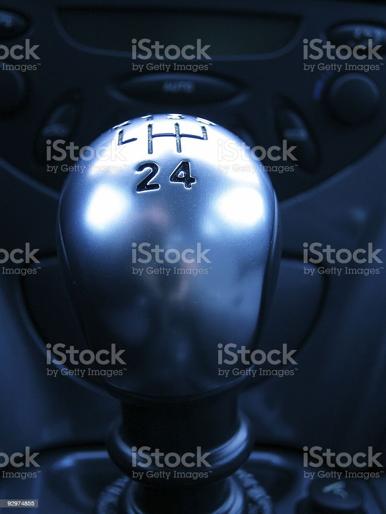 Car Gear 'Series' royalty-free stock photo