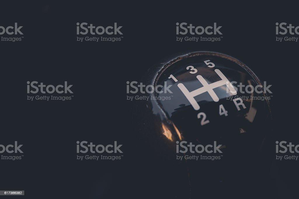Car gear shifter stock photo