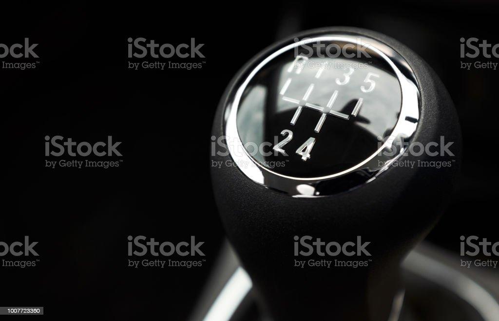 Car gear stick stock photo