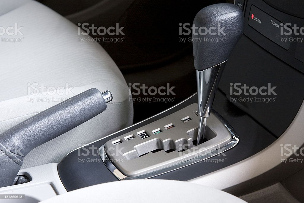 car gearshift stock photo
