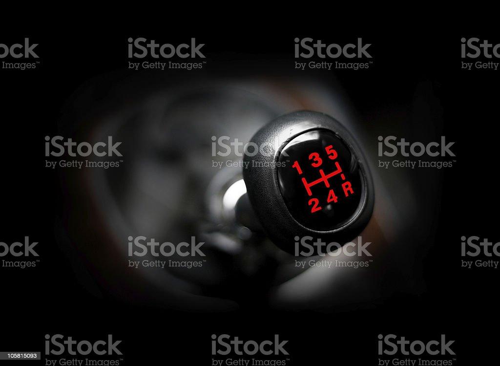 Car gearstick stock photo