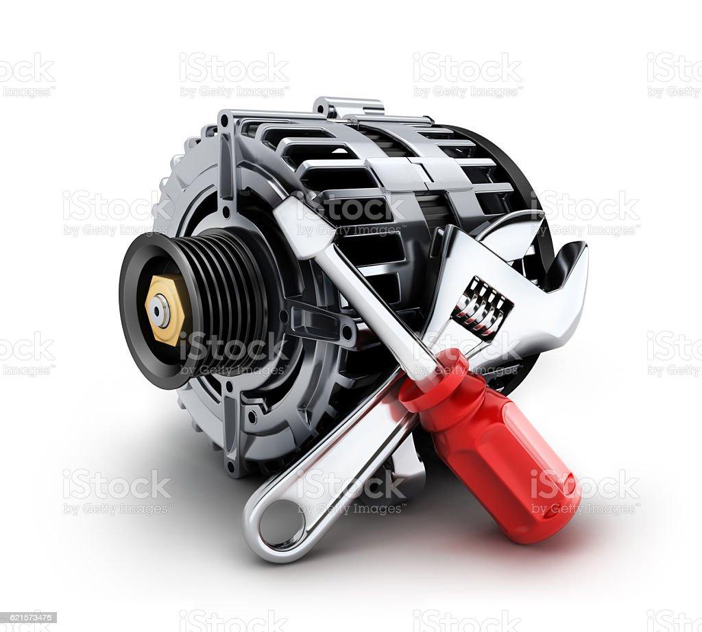 Car generator repair photo libre de droits