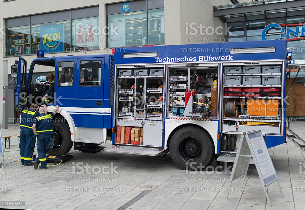 THW car - German Federal Agency For Technical Relief stock photo
