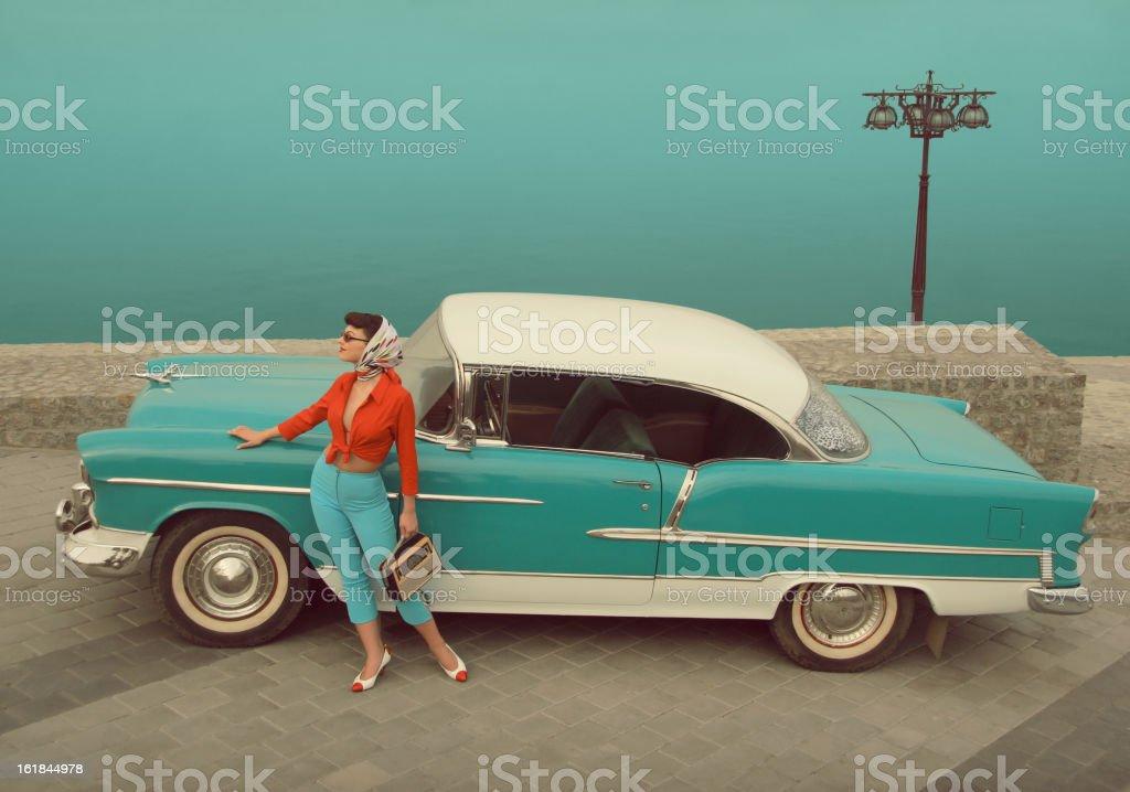 Car Girl stock photo