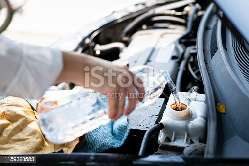 istock Car got heat problem. 1159363583