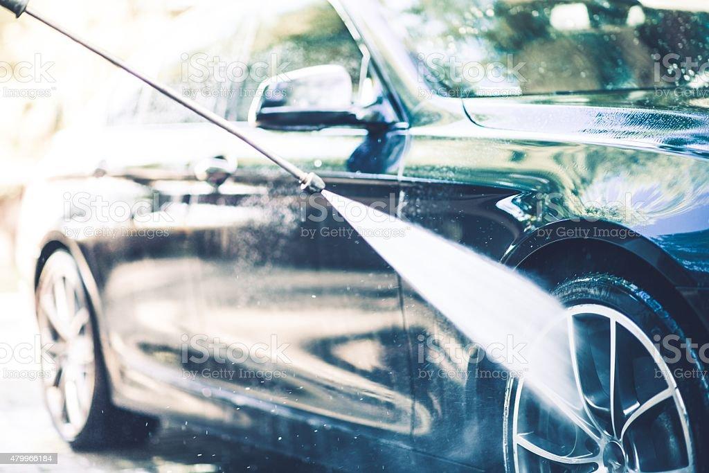 Auto Lavado de manos - foto de stock