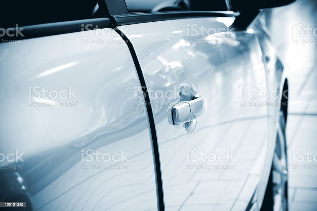 Car handle stock photo