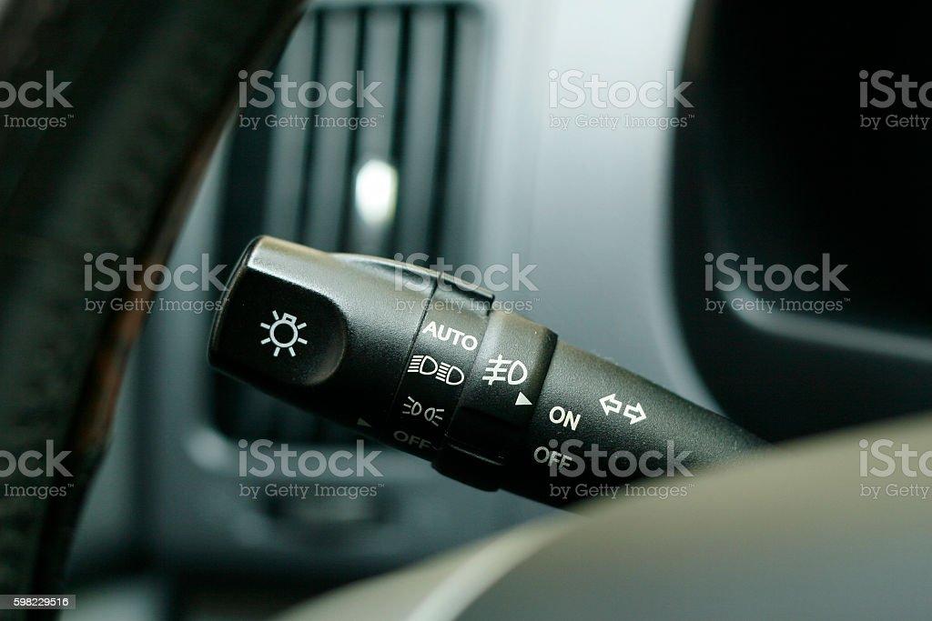 car headlamp control rod foto royalty-free