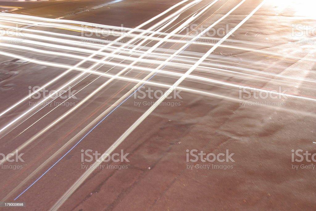 Auto Scheinwerfer im crossroads – Foto
