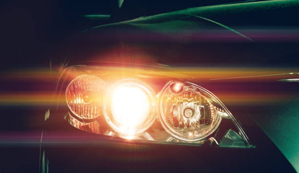 Car headlights. Exterior detail. Car luxury concept Car headlights. Exterior detail. Car luxury concept headlight stock pictures, royalty-free photos & images