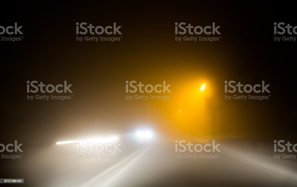 car headlights stock photo