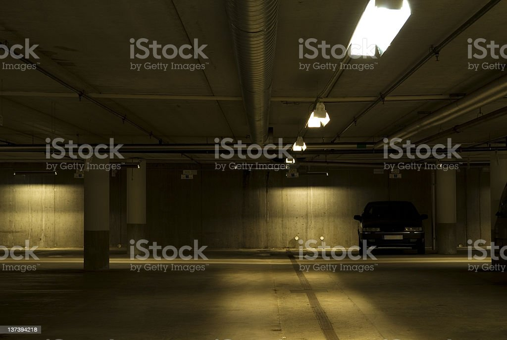Car in a garage royalty-free stock photo