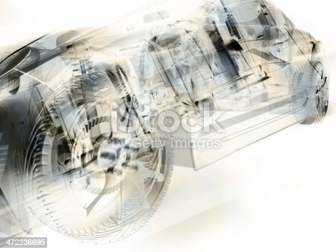 istock car in abstract style 472236695