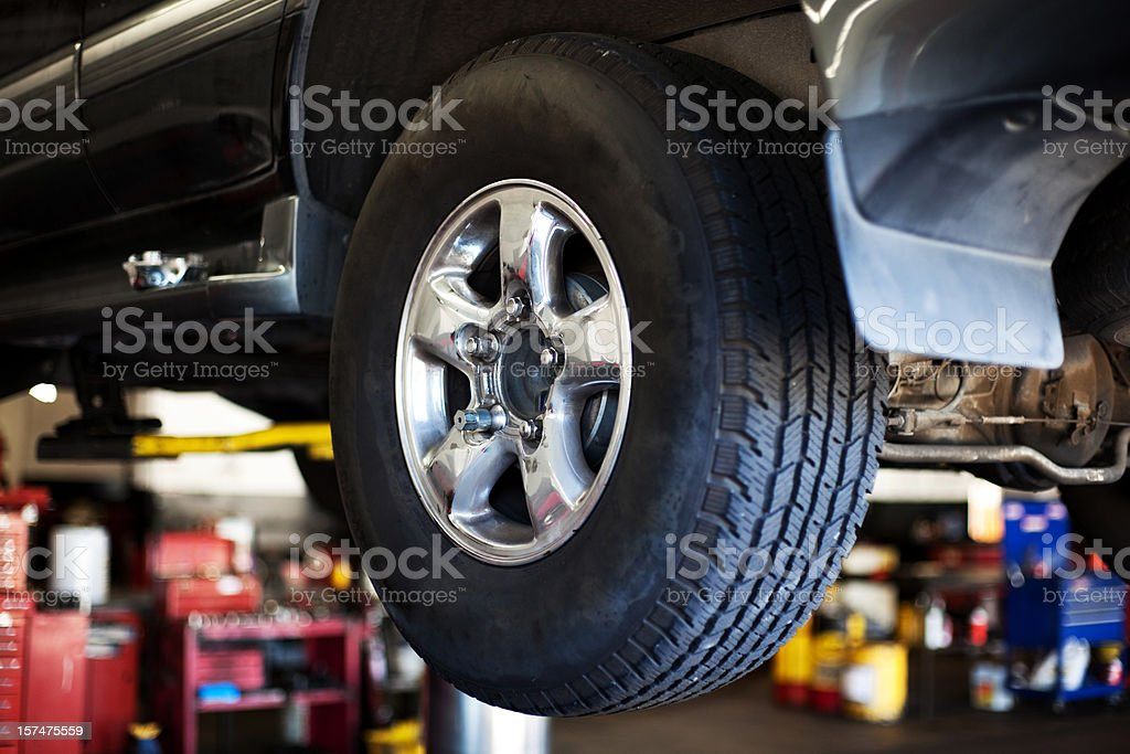 Car in auto mechanic shop royalty-free stock photo