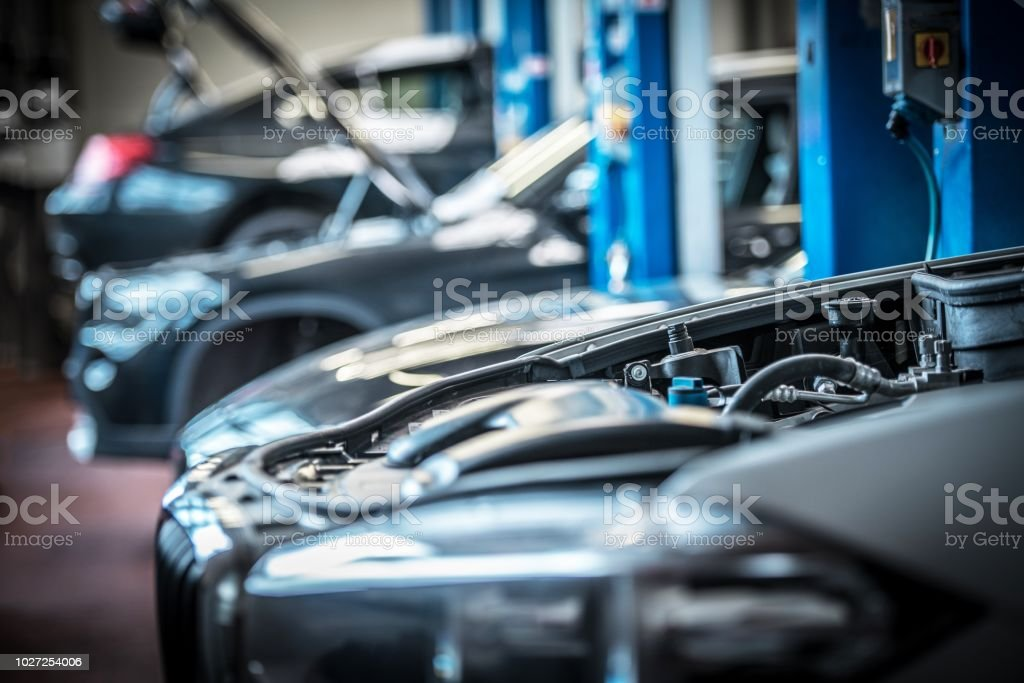 Car in Auto Service stock photo