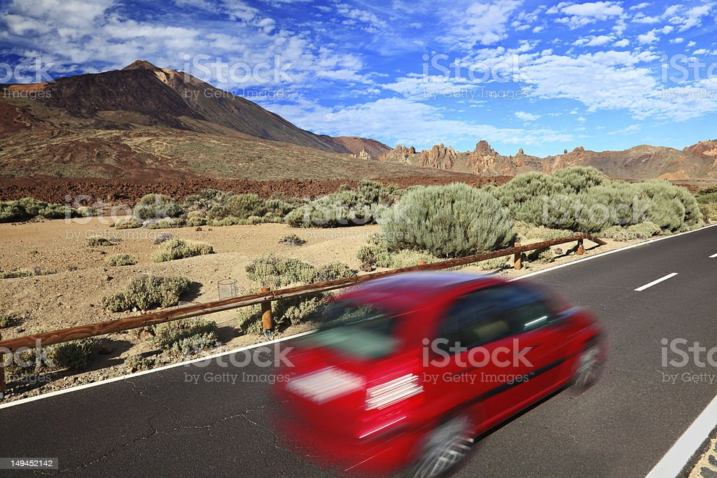 Car in beautiful landscape royalty-free stock photo