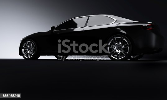 side view of luxury car ,  3D, car of my own design, legal to use.