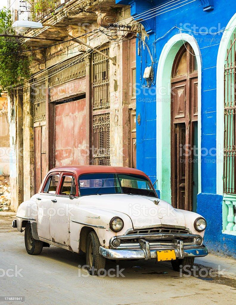 Car in Cuba royalty-free stock photo