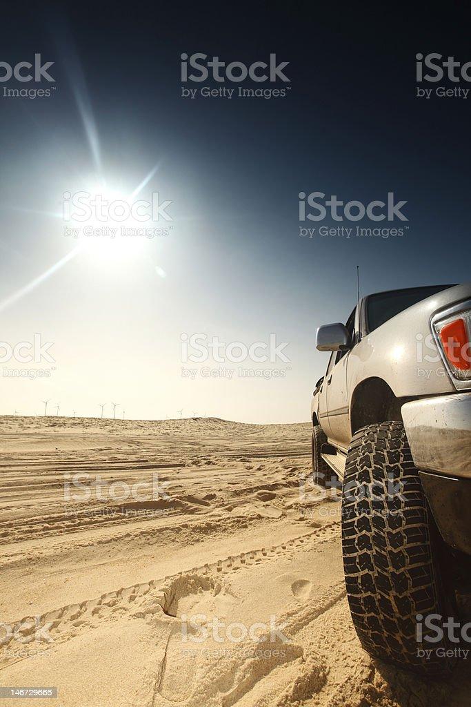 car in desert royalty-free stock photo