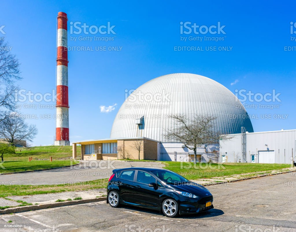 Car in front of a big dome stock photo