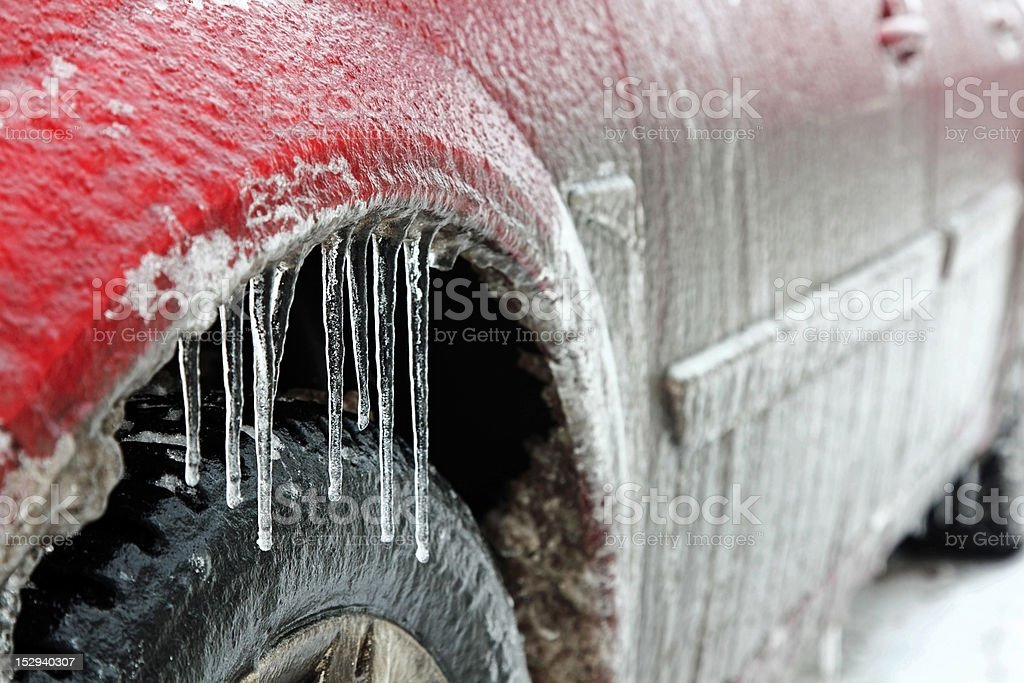 Car in ice royalty-free stock photo