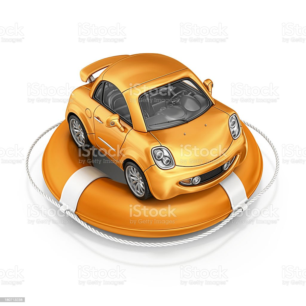 car in life belt stock photo