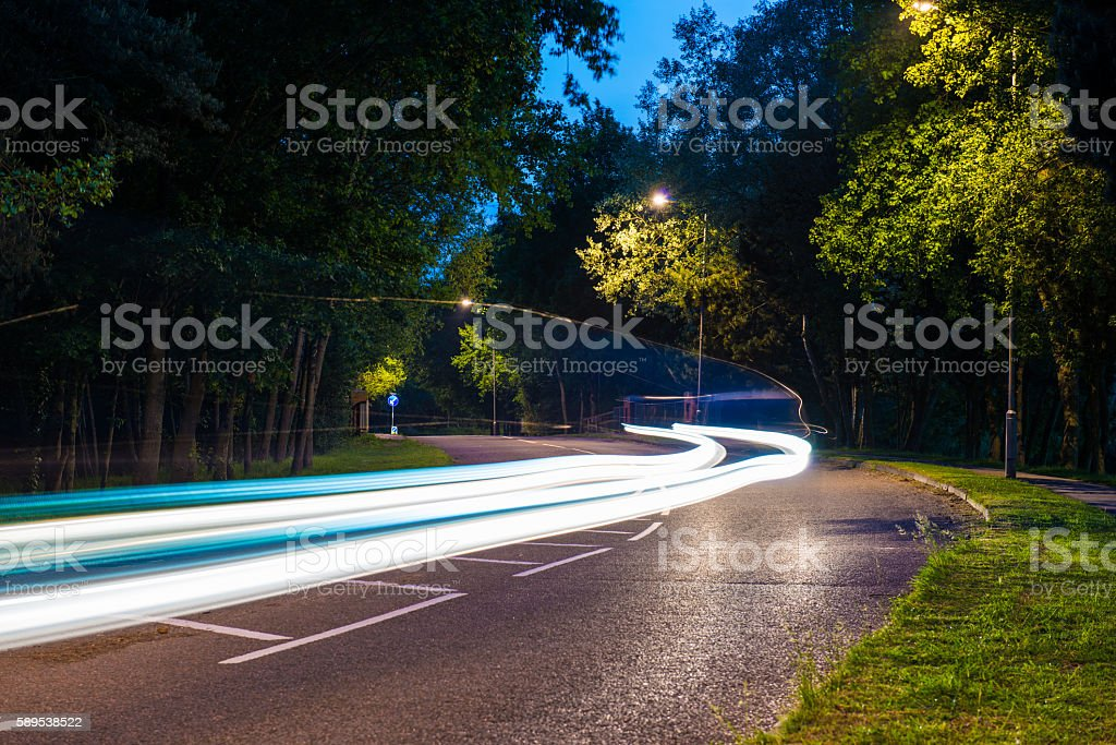 Car in Motion stock photo