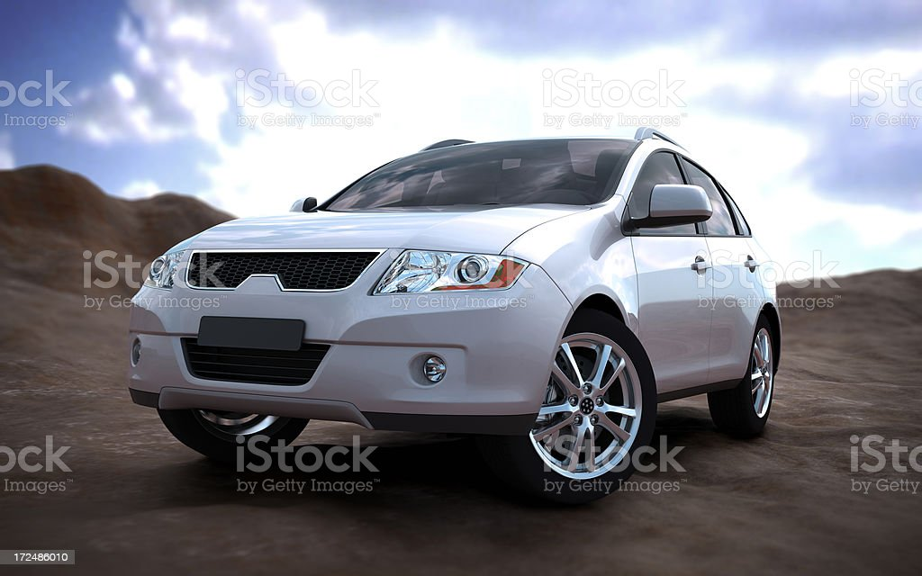 SUV car in nature stock photo