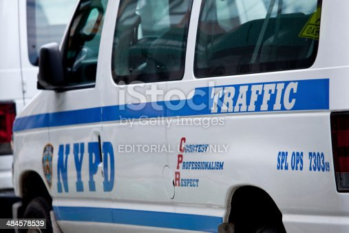 istock NYPD car in New York City 484578539