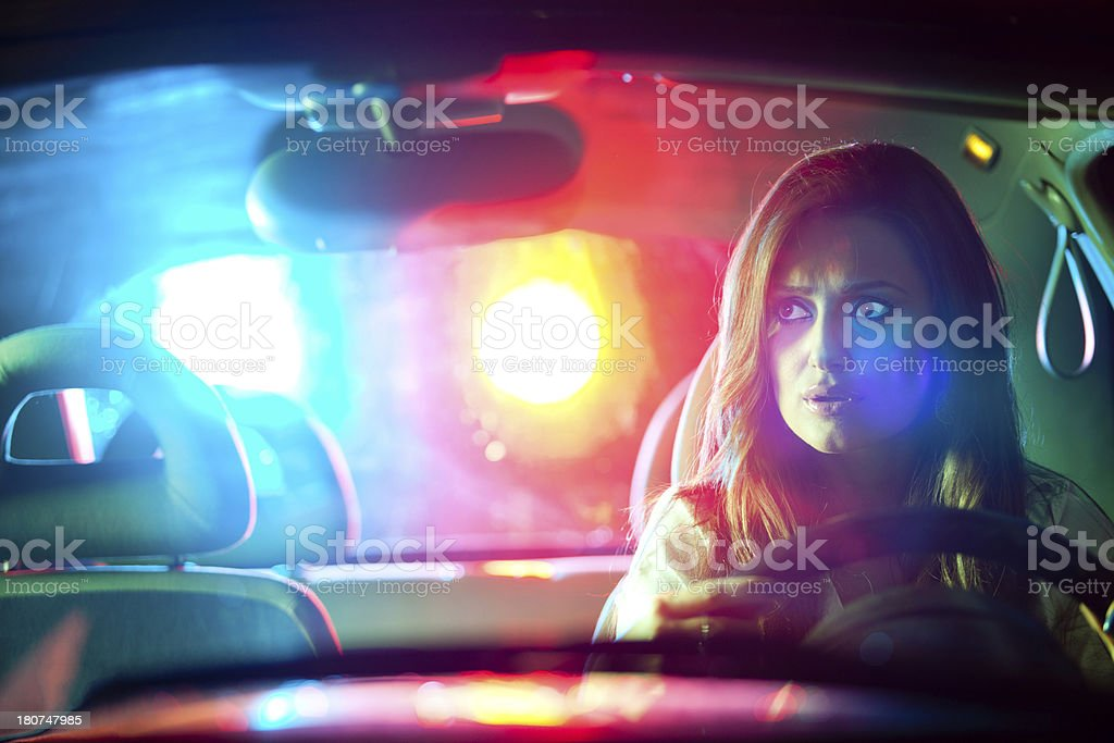 car in pursuit royalty-free stock photo