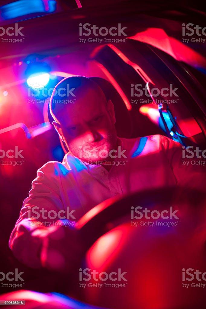 Samochód w pogoń zbiór zdjęć royalty-free