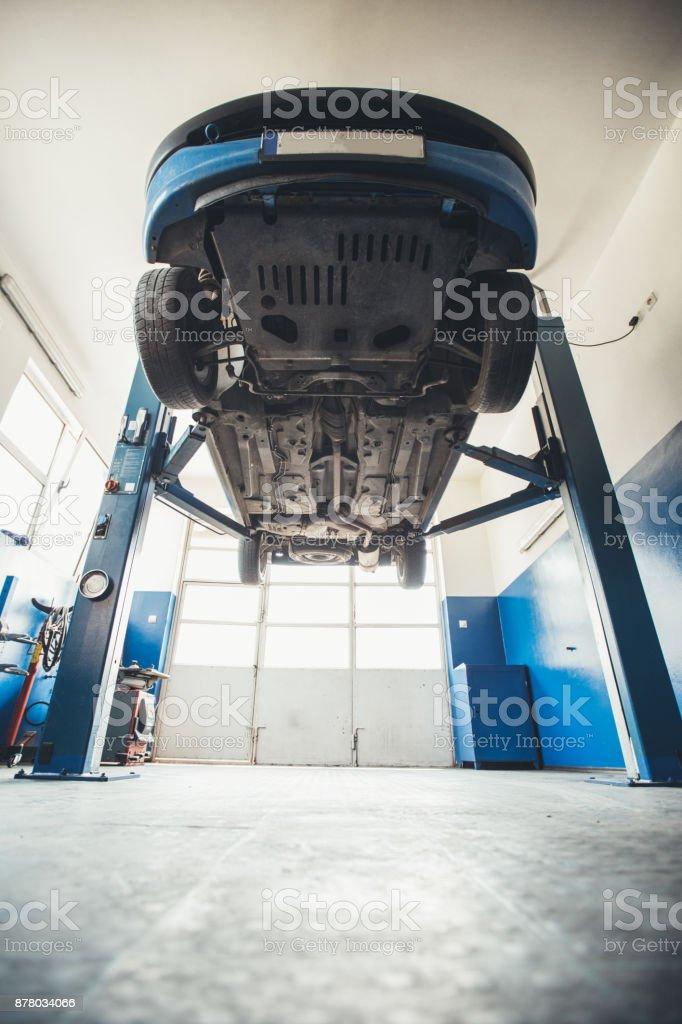 Car in Repair shop stock photo
