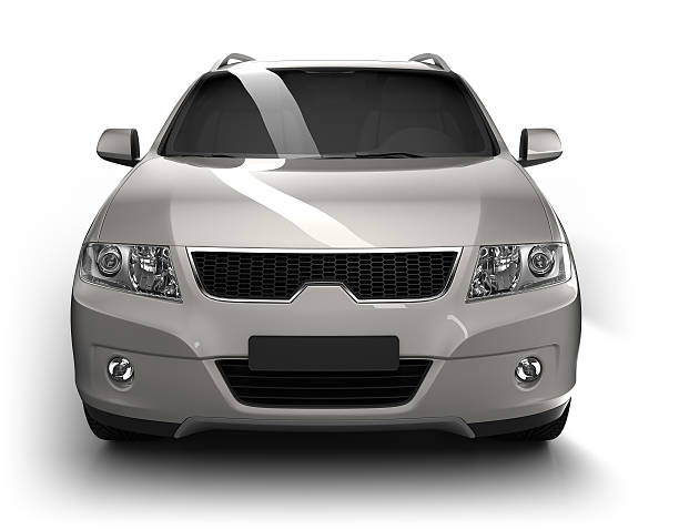 SUV in studio isolato/clipping path - foto stock